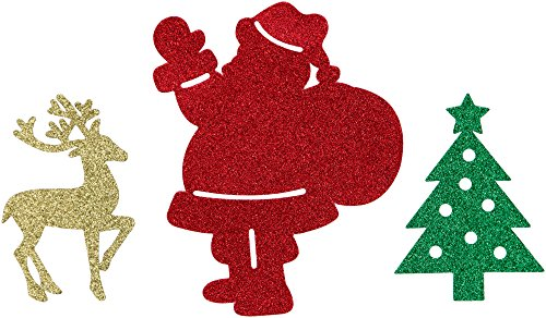 Creative Converting Wall Decor Cutouts, Reindeer, Santa and Tree, Red/Green/Gold