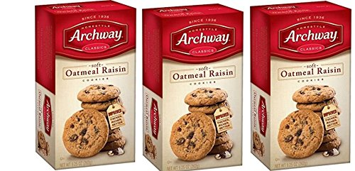 Archway Classics Cookies, Oatmeal Raisin, 9.25 Oz Pack of 3