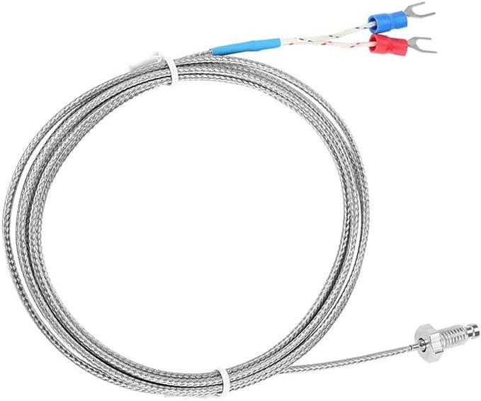 BokWin K Type M4 Thread Thermocouple 32-1112F//0-600C Temperature Sensor Probe with 1M Cable 1PC