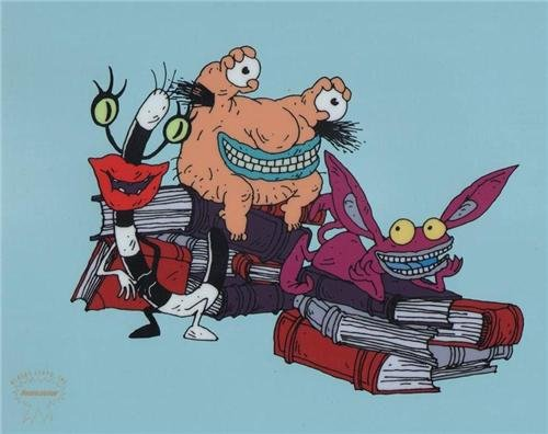 AAHHH! Real Monsters Animation Art Cel Sericel Limited Edition Cel Nickelodeon Seal & COA