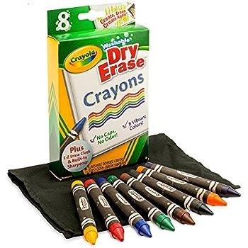crayola dry erase crayons 8 count
