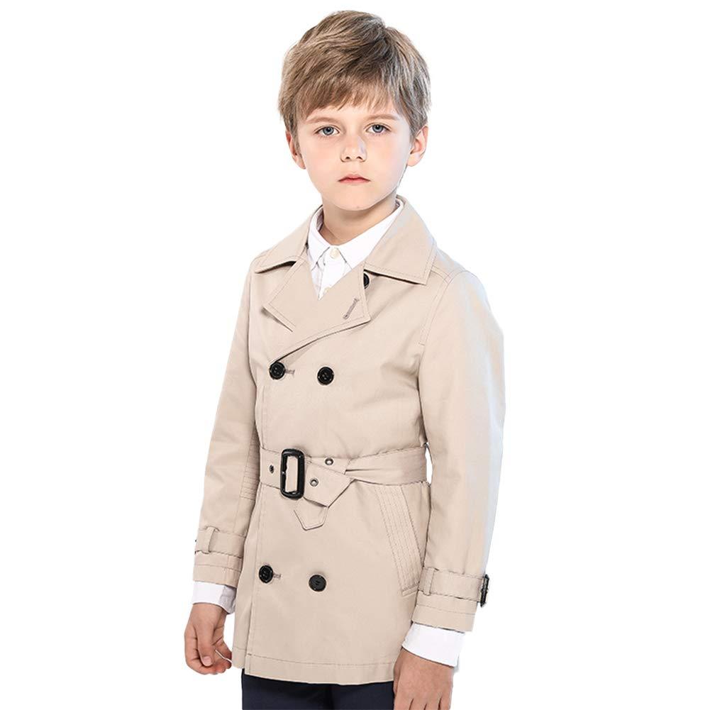 SOLOCOTE Boys Cotton Windbreaker Classic Trench Coat