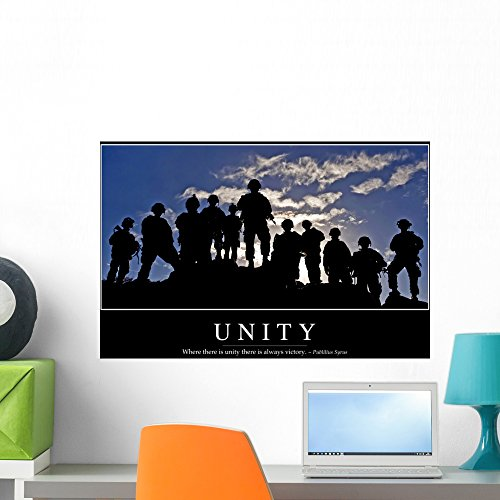 Wallmonkeys Unity: Inspirational Quote and Motivational Poster Peel and Stick Wall Decals WM278373 (24 in W x 16 in H)