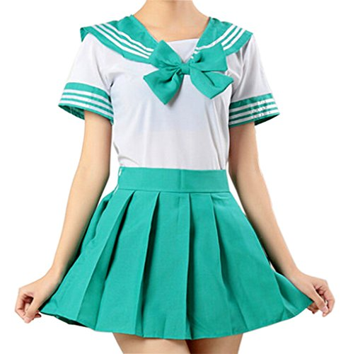 WenHong School Uniform Dress Cosplay Costume Japan Anime Girl Lady Lolita -