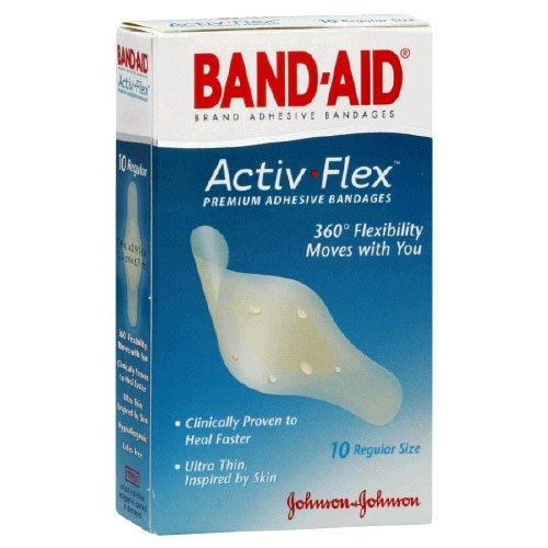 Band Aid Advanced Healing Blister Cushions (Band-aid Brand Adhesive Bandages Activ-Flex Regular, 10 Count Box)