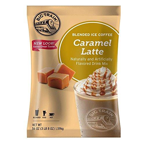 (Big Train Blended Ice Coffees Caramel 3lb (8oz)- Single)