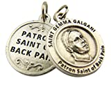 Silver Toned Base Patron of Back Pain Saint Gemma Galgani Medal, 3/4 Inch