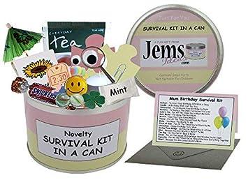 Kit de supervivencia de cumpleaños para mamá en una lata ...