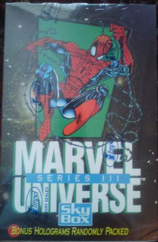 (Marvel Universe Series III 3 Trading Cards Box - 36 Count)