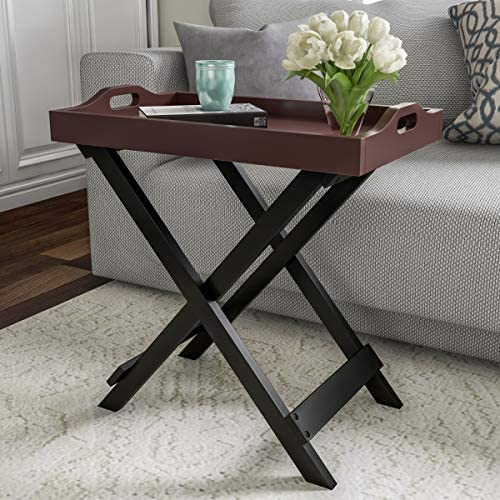 Lavish Home End Folding Modern Wooden Contemporary Side Table