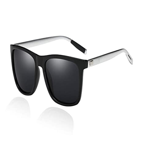 Yangjing-hl Gafas de Sol polarizadas cuadradas de Aluminio y ...
