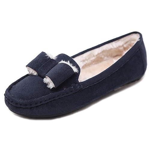 Mujers Mocasines Zapatillas Calienta Comodidad Pantuflas: Amazon.es: Zapatos y complementos