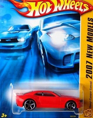 (Mattel Hot Wheels 2007 First Edition New Models 1:64 Scale Red Chevy Camaro Concept Die Cast Car #2 #002)