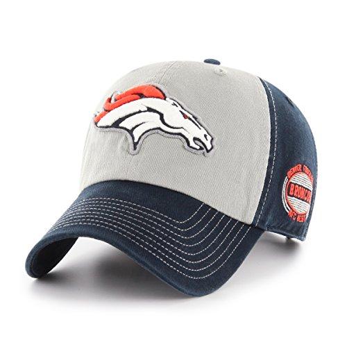 NFL Denver Broncos Adult Tuscon Ots Challenger Adjustable Hat, One Size, Navy