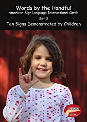 American Sign Language/ Baby Sign Language Cards - Ten Signs Demonstrated By Children. Set 3