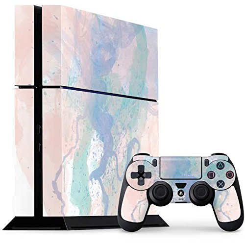 Abstract Art PS4 Console and Controller Bundle Skin - Rose Quartz & Serenity Splatter | Skinit Art Skin
