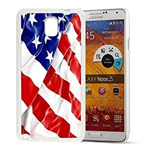 America Flag Design Pattern HD Durable Hard Plastic Case Cover for Samsung Galaxy Note 3