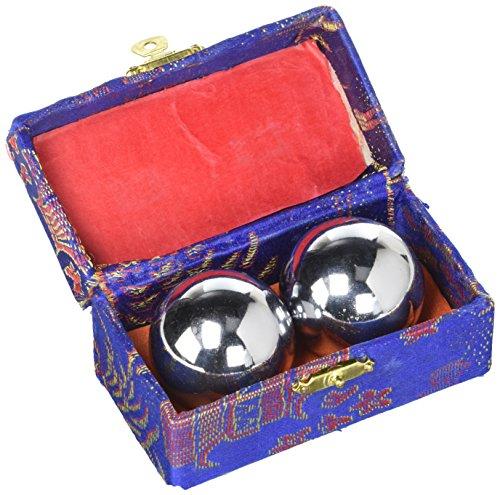 Cloisonne Balls - Silver Chrome Baoding Balls 1 1/2