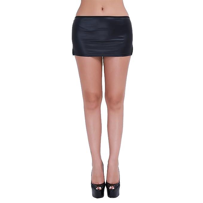 Freebily Ropa Interior Sexy Mujeres Lencería Minifalda Negro Sexy con Braga para Mujer: Amazon.es: Ropa y accesorios