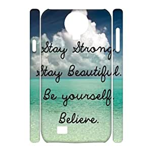 Stay Strong Brand New 3D Cover Case for SamSung Galaxy S4 I9500,diy case cover ygtg609019