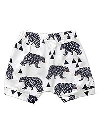 LOOLY Infant Baby Boys Girls Animal Printed Elastic Waist Cotton Haren Shorts