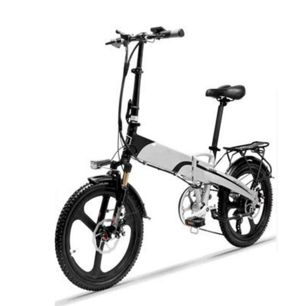 電動自転車スクーター大人の小型折りたたみ電動車20インチミニ自転車日常のスポーツやサイクリングに適しています (Color : 白い) 白い
