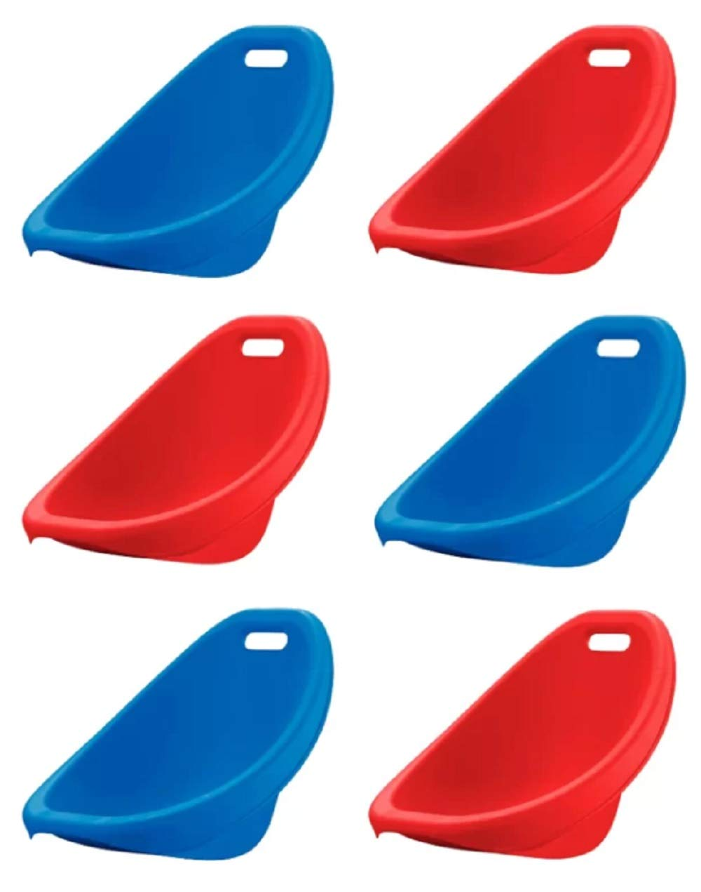 American Plastic Toys Kids Scoop Rocker Chairs in Assorted Colors [Blue, Red, etc.] Stackable, 50 lb. Weight Capacity (Pack of 6), Great for Gaming, Reading, Playroom, School, Classroom Children by American Plastic Toys Inc