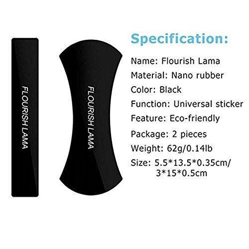 JingyangO Nano Flourish Lama Sticky Bracket Gel Pads Multi-Function Mobile Phone Holder Multifunctional Rubber Anti-Slip Washable Holder sticker (Two In One) by JingyangO (Image #1)