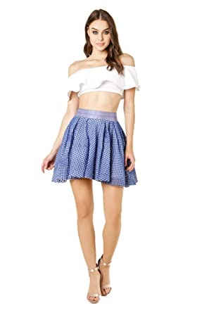 Wow Couture Womens Double Layered Mesh High Waisted Mini Skirt at ... ac2123d7fa8b