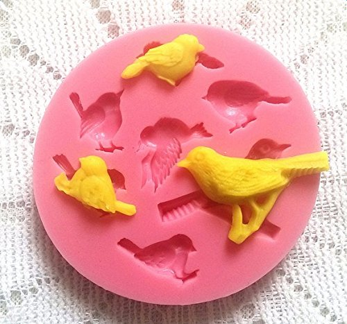 Creaon 3D Mold Silicone Bird Shape Ice Cube Chocolate Cookie Cake Mould Soap Baking DIY Cupcake Liners Tools