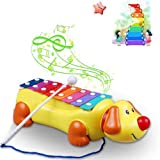 LUQUAN Cute Dog Music Sound Knock Toy For Child Baby -Colorful