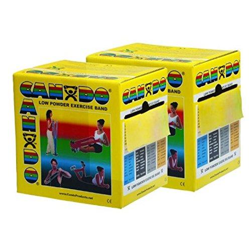 CanDo 100 Yard Roll Band Twin-Paks, X-Light, Latex Free, Yellow