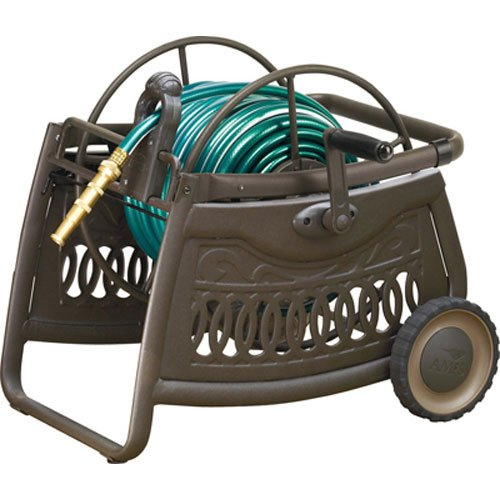 NeverLeak Decorative Metal Hose Cart with 150-Foot Hose Capacity  - 2517000 by ''Ames''