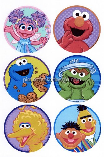 Sesame Street Faces - 1/4 ~ Sesame Street Character Faces ~ Edible Image Cake / Cupcake Topper!!!