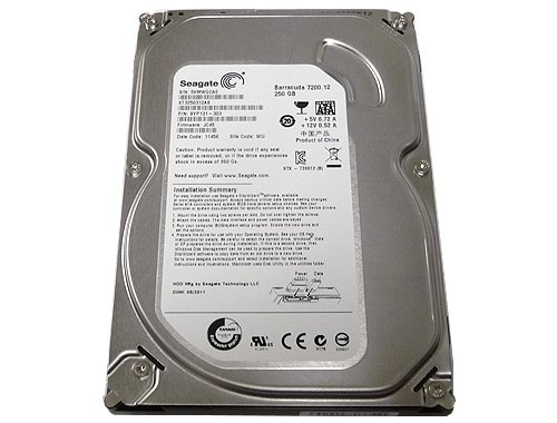 - Seagate Barracuda 7200.12 250GB 7200RPM SATA Hard Drive- ST3250312AS