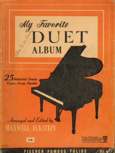 My Favorite Duet Album Book Four 25 Selected Duets Piano -- Four Hands ()