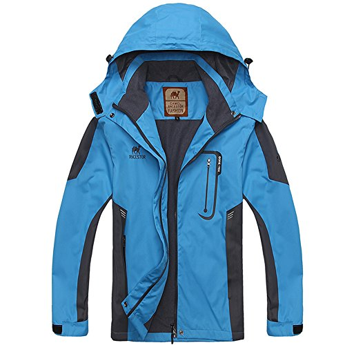 Jacket Full Coat Outdoor Windproof Sports Mountain Blue GITVIENAR Softshell Zip Hood Waterproof Top Women's AvnaIq