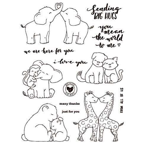 Cute Animals Transparent Clear Silicone Stamp Seal Create Photo Album Decorative Card Making Stamps - Stamps