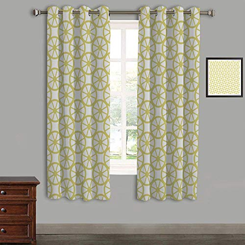 Lemon Peel Baseball (Printed Kids Curtains,Polyester Curtains Panels for Bedroom,Living Room,105