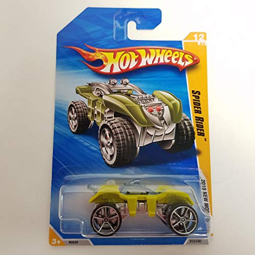 Spider Rider Green Color 2010 Hot Wheels New Models 1/64 Scale diecast car No. 012