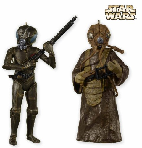 SDCC San Diego Comic Con Hallmark 2012 Exclusive Star Wars 4 LOM and Zuckuss Ornament Limited to 1000 - 4 Lom Star
