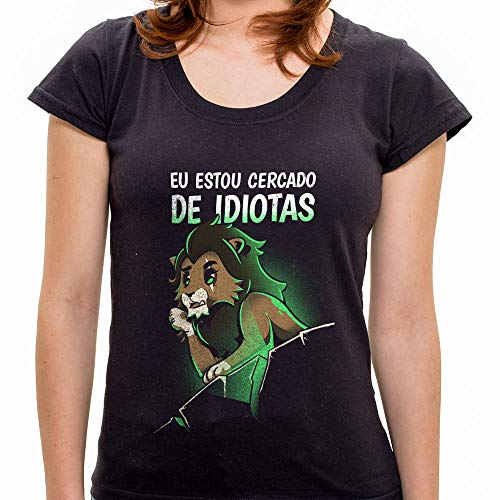 Pr - Camiseta Cercado Por Idiotas - Feminina - Gg