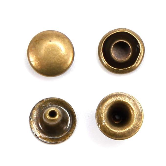 remaches tubulares r/ápidos de cuero para manualidades multicolor cierre de tuerca SurePromise 200 remaches de doble capa