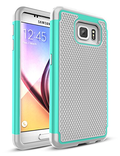 Galaxy S6 Case,TILL [Protective Buffer] Shock Absorbing Dual Layer Hybrid Rubber Plastic Impact Defender Rugged Slim Hard Case Cover Shell For Samsung Galaxy S6 S VI G9200 GS6 All Carriers [Turquoise]