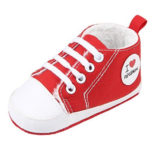 Fire Frog Winter Sneaker - Zapatos primeros pasos de Lona para niño Red