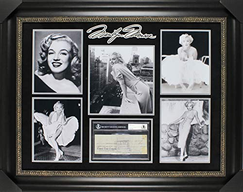 - Marilyn Monroe Signed & Framed 3x8.25 Check Dated February 13, 1959 BAS Slabbed