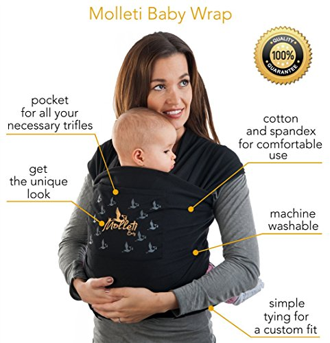 Amazon Com Molleti Baby Wrap With Pocket Baby Wrap Carrier Also