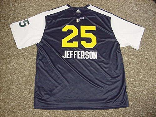 Al Jefferson Utah Jazz 2010-2011 Adidas Game Worn Shooting Shirt