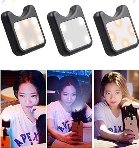 Luz de relleno LED, 3 en 1 luz de video regulable regulable con ...