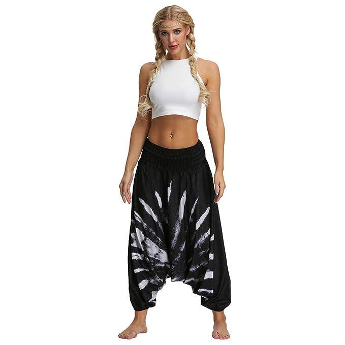 Amazon.com: ◐OFEFAN◑ Baggy Boho Yoga Pants Womens ...